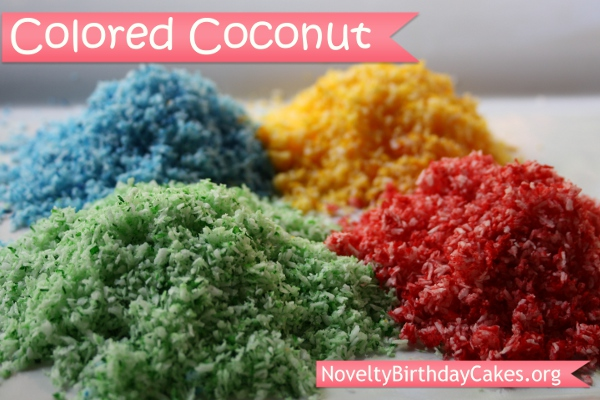 How To Color Coconut For Cake Decorating