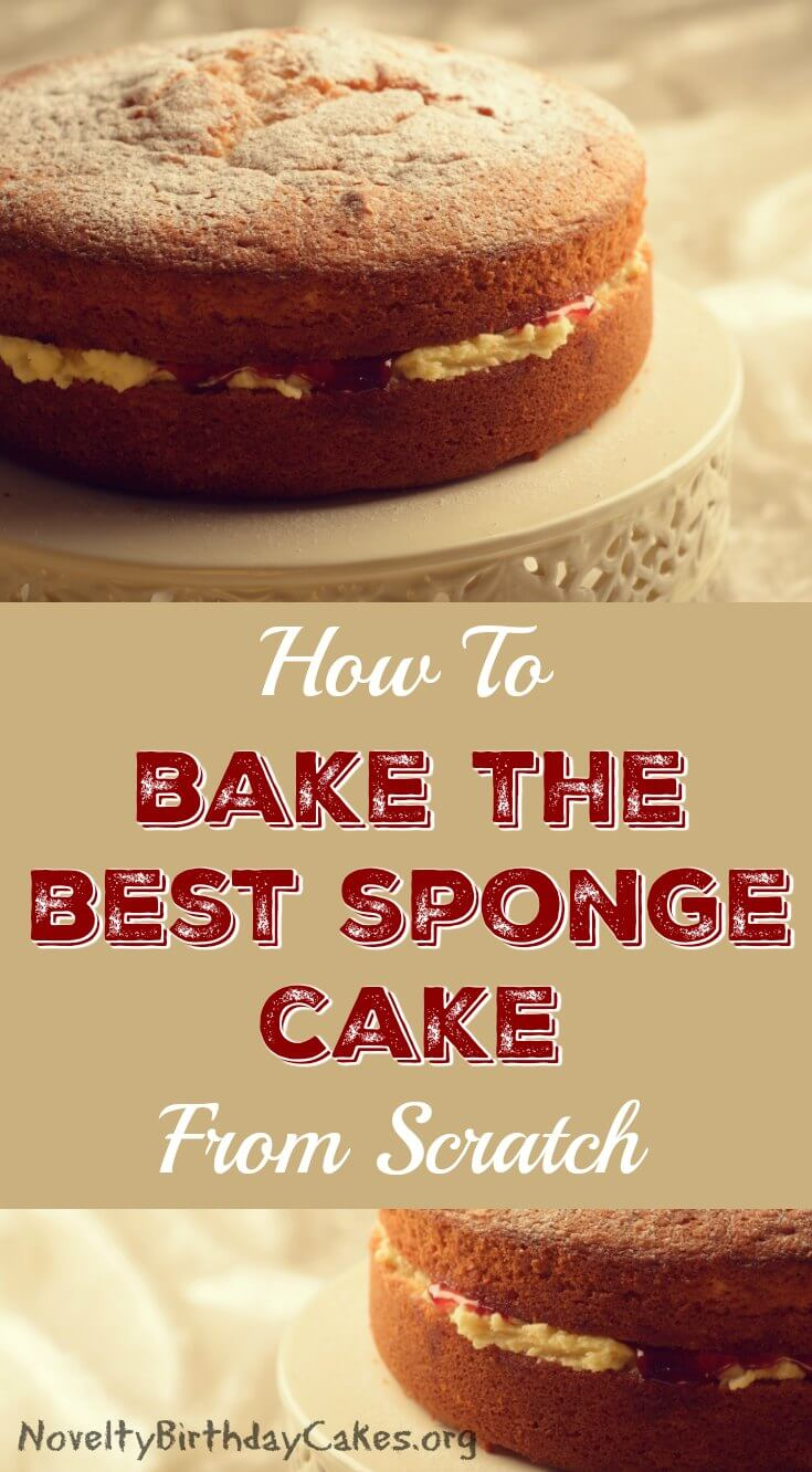 Best Sponge Cake From Scratch Pin