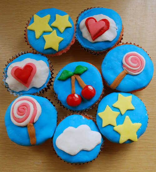 Fondant Iced Cupcakes