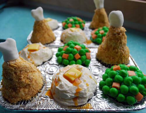 Turkey Dinner Cupcakes