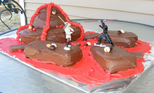 Darth Maul vs Obi Wan Scene Cake