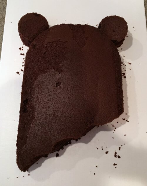 Ewok Birthday Cake Cut Out