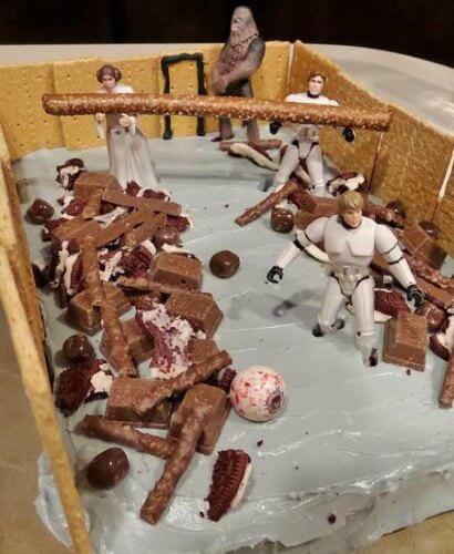 Star Wars Trash Compactor Scene Cake