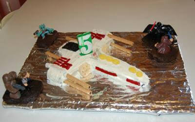 Star Wars X Wing Fighter Cake