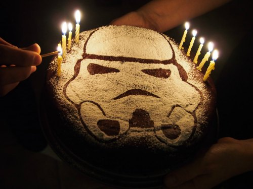 Stormtrooper Birthday Cake